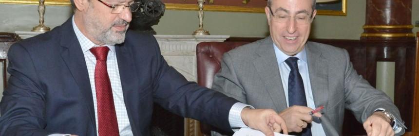 Firma del Convenio entre Diputación y Cámara de Comercio